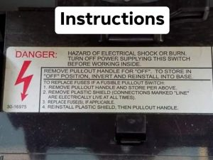 Air Conditioning Repair - Service Lockout Instructions